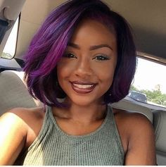 Photo brown skin purple hair in braids hairstyles 12 Images 10 Prettiest Hair Color Trends in 2020 – HairstyleCamp Black Women Hairstyles, Hairstyles With Bangs, Trendy Hairstyles, Girl Hairstyles, Fringe Hairstyles, Wedding Hairstyles, Short Haircuts, Hairstyles 2016, Popular Haircuts