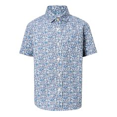 d1010eebc John Lewis & Partners Heirloom Collection Boys' Floral Shirt, Blue at John  Lewis & Partners