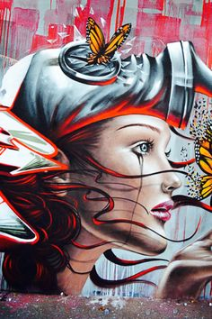 *beautiful #streetart #mural - ArtByDestroy