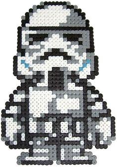 Cute stormtrooper - maybe make into a cross stitch pattern?