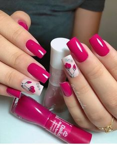 Nail art Christmas - the festive spirit on the nails. Over 70 creative ideas and tutorials - My Nails Spring Nail Art, Spring Nails, Summer Nails, Spring Nail Colors, Trendy Nails, Cute Nails, My Nails, Nagel Blog, Nagellack Trends