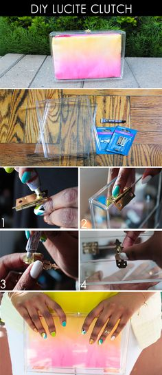 Style. Love. Repeat.: DIY: Lucite Box Clutch
