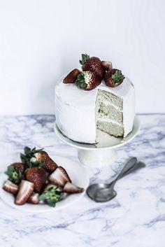 Rum & Strawberries Cake. Nx