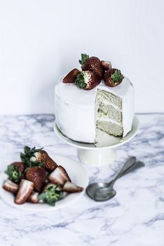 Rum & Strawberries Cake