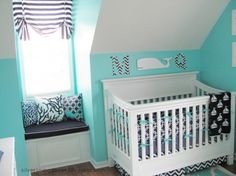 Bright Turquoise Nautical Nursery Design For A Boy | Kidsomania
