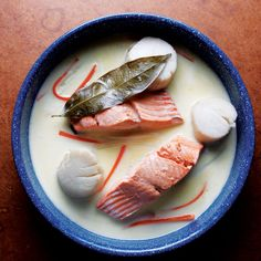 Salmon and Scallops a la Nage Recipe - Saveur.com