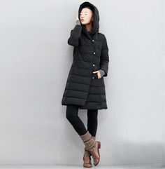 Large Turndown Collar Down Jacket Velvet Hooded Long Winter Warm Down Jacket Waistbelt Womens Down Coat Custom Mad
