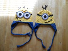 Crochet Despicable Me hats:)