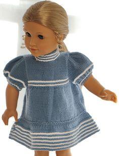 Puppen-Strickkleid Hearty Gr 35-45cm