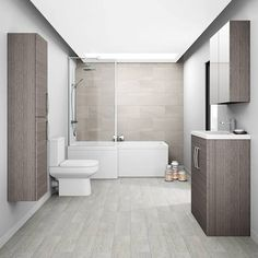Brooklyn 2 Door Mirror Cabinet - Grey Avola - 600mm