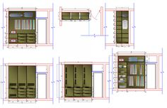 Wardrobe working drawing in dwg file. detail working drawing of Wardrobe, with plan view, section view, elevation view details, with dimensions. Bedroom Wardrobe, Wardrobe Closet, Bathroom Dimensions, Cupboard Wardrobe, Wooden Bedroom, Working Drawing, Sliding Wardrobe, Cad Blocks, Types Of Furniture