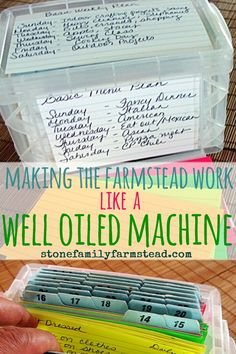 Having trouble staying on top of the basics on your farm? Get organized with my farm organization and management ideas! organization and management farm organization Homestead Farm, Homestead Living, Farms Living, Homestead Survival, Homestead Layout, Survival Tips, Survival Skills, Survival Essentials, Agriculture