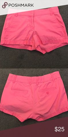 J Crew Chino shorts Women's hot pink shorts, size 4, gently used. Perfect for sorority rush, spring lunches, and much more! J. Crew Shorts