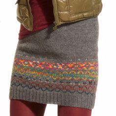 Modell 166/3, Rock mit Norwegermuster aus Freizeit uni und Freizeit-Color, 4-fädig von Junghans-Wolle « Kleider, Tuniken & Röcke « Strickmodelle Junghans-Wolle « Stricken & Häkeln im Junghans-Wolle Creativ-Shop kaufen Crochet Skirt Outfit, Crochet Skirts, Knit Skirt, Skirt Pattern Free, Crochet Skirt Pattern, Filet Crochet, Knit Crochet, Crochet Summer, Crochet Pullover Pattern