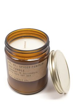 Spiced Pumpkin Candle | A sophisticated take on the Fall classic. Ripe pumpkin, creamy butter and brown sugar, topped with toasted cinnamon and nutmeg. Mmm!