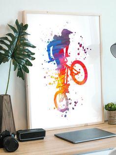 Teen Room Decor, Printed Materials, Biker, Kids Room, Gallery Wall, Greeting Cards, Wall Art, Drawings, Prints