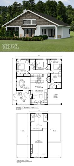 Tiny Home Designs: 51 Best Craftsman Home Plans Images In 2019