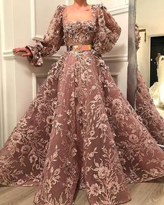 Square Neck Floor-Length Purple Applique Prom Dress, on Luulla Shrug For Dresses, Prom Dresses Long With Sleeves, Gala Dresses, Couture Dresses, Evening Dresses, Fashion Dresses, Elegant Dresses, Pretty Dresses, Elegantes Outfit