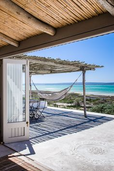 Best way to enhanco porches and patios on the beach, a comfortable hammock!