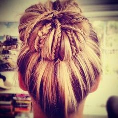 Top Knot + Braids...