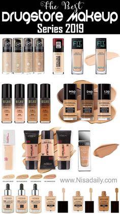 The Best Drugstore Makeup Series 2019 – ★★★★★ 101 - schminken Best Drugstore Foundation, Drugstore Makeup Dupes, Best Eyebrow Products, Makeup Foundation, Foundation Tips, Best Foundation For Dry Skin, Beauty Dupes, Foundation Brush, Makeup List