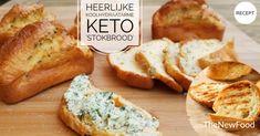 Koolhydraatarm/keto 'stokbrood' - TheNewFood Go For It, Keto Bread, Low Carb Keto, Crackers, New Recipes, Bbq, Paleo, Snacks, Meat