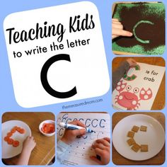 Carrots, crackers, and more... fun ways to make the letter C!