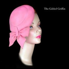 Vintage Hat Dates To About 1950 In Shocking Pink Felted Cashmere