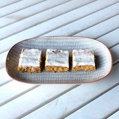 A yummy and easy slice that free of the top 8 allergens, and it's EASY to make! With added carrot for extra goodness.