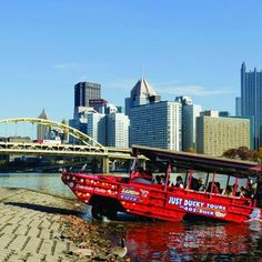 Just Ducky Tours in Pittsburgh, Pa., takes riders on Pittsburgh's only land and water adventure through the city! Visit seven days per week for spectacular views of the city and for the family. Kayaking Quotes, Kayaking Tips, Kayak Brands, Visit Pittsburgh, Philadelphia Shopping, Kayak Fishing, Fishing Tips, Boat Tours