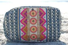 Blue Bohemian Print Make-Up Bag