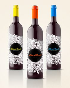 Wine Packaging by Kirsten Myers, via Behance. great graphics matching the name #wine #packaging PD