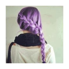 Pastel Hair / purple braid ❤ liked on Polyvore