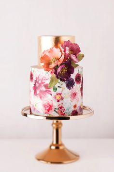 Metallic Wedding Cake ~ Cake Ink