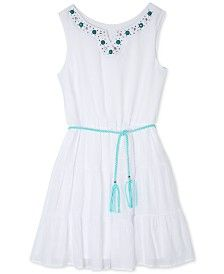 BCX Girls' White Gauze Dress