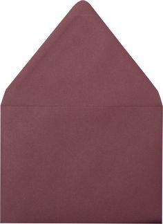 "A-7 Burgundy Euro Flap Solid Envelopes (5 1/4"" x 7 1/4"")"
