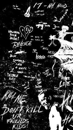 XXXTentacion Wallpapers - Top Free XXXTentacion Backgrounds - WallpaperAccess Dark Black Wallpaper, Black Background Wallpaper, Black Aesthetic Wallpaper, Scenery Wallpaper, Aesthetic Iphone Wallpaper, Rapper Wallpaper Iphone, Crazy Wallpaper, Graffiti Wallpaper, Galaxy Wallpaper