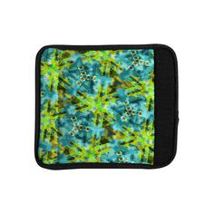 Kess InHouse Michael Sussna 'Pollenesia' Teal Green Luggage Handle Wrap