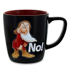 Grumpy Personality Mug - 1400077 Coffee Cup Art, Coffee Mug Quotes, Cute Coffee Mugs, Cool Mugs, Casa Disney, Disney Home, Disney Art, Cocina Mickey Mouse, Minnie Mouse