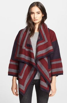 Free shipping and returns on Burberry Brit Wool Blend Blanket Wrap at Nordstrom.com. Throw a trend-right layer over your look with a cozy-chic blanket wrap crafted from a lush blend of wool infused with alpaca and camel hair for an extra-soft feel. Geometric blocking in a trio of colors authenticates the heritage design.