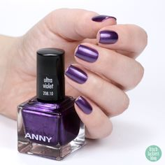 ANNY Ultra Violett Kollektion – Trendfarbe 2018 als Nagellack – Ultra Violet – swatch by frischlackiert