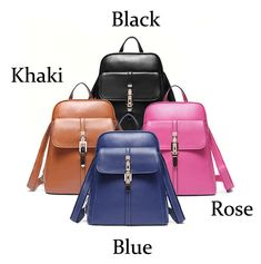 How nice Casual Simple Solid Sewing Thread Trapezoid School Bag Travel Backpack ! I like it ! I want to get it ASAP!