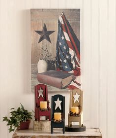 For Our Bedroom, This With So Go With Our Americana Theme In Our Bathroom,  I Could Just Carry It Over To The Bedroom Too! Love It!!!
