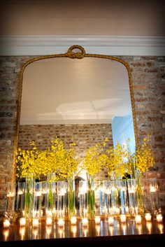 yellow flowers floating candles by arlene Wedding Events, Our Wedding, Dream Wedding, Magical Wedding, Wedding Tables, Wedding Coordinator, Wedding Reception, Reception Decorations, Flower Decorations