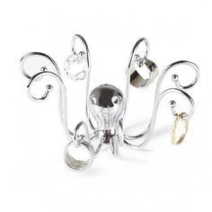 Umbra Octopus Ring Holder, Chrome for sale online Jewellery Storage, Jewelry Organization, Jewelry Box, Jewelry Crafts, Octopus Ring, Little Octopus, Feather Jewelry, Stylish Jewelry, Metal Casting
