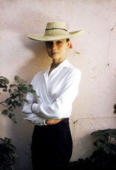Audrey Hepburn photographed by Inge Morath during the production of The Unforgiven, Durango, Mexico, 1959.