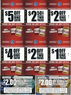 Free printable coupons for pall mall cigarettes