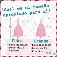 ¿Qué es la copa menstrual? da click aquí --> http://mcup.com.mx/web/info/ Calcula tu talla para que disfrutes de la experiencia de utilizar #MCup