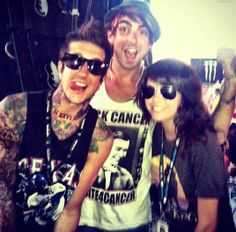 Austin Carlile, Alex Gaskarth, Tay Jardine, Of mice and men, all time low, we are the in crowd
