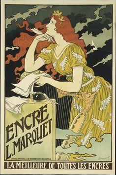 Encre L. Marquet, La Meilleure de Toutes les Encres Eugène Grasset (French, born Switzerland. 1841–1917)  1892. Lithograph  MoMA